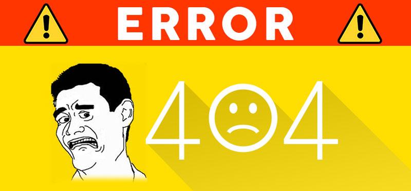 גוגל עמודי שגיאה 404